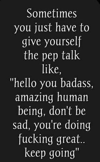 pep talk